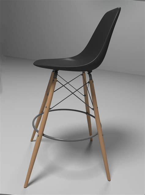 Eames Bistro Table Eames Bar Chair 3d Model Max Obj 3ds Fbx Mtl Cgtrader