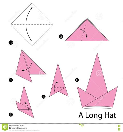 Make Paper Hat - step by step how to make origami a hat