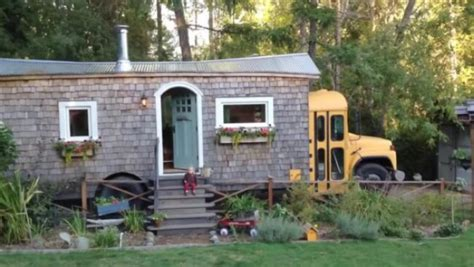 school bus tiny house you ll love this yellow school bus turned into an incredible tiny house tiny houses