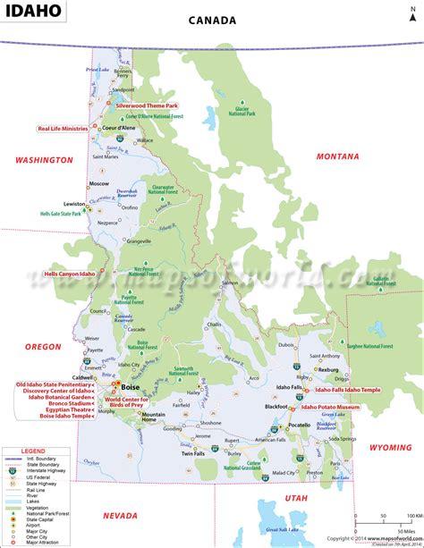 map of usa idaho idaho state map