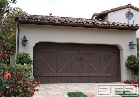 spanish style garage eco alternative garage doors 12 composite wood garage