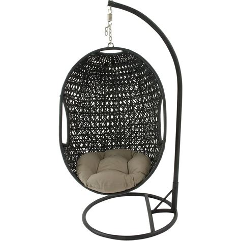 swinging pod chair wicker pod swing chair wayfair