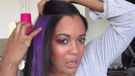 photo of relaxed hair that has been streaked grry how i bleach and color my hair youtube