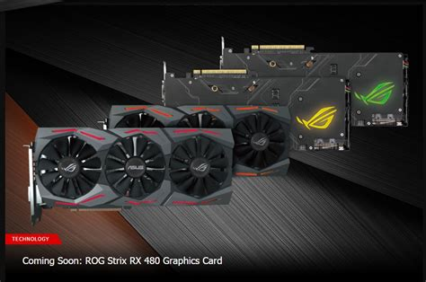Asus Rx 480 Strix 8gb 256bit Ddr5 amd rx 480 custom cards can hit 1 4 1 6ghz aibs report