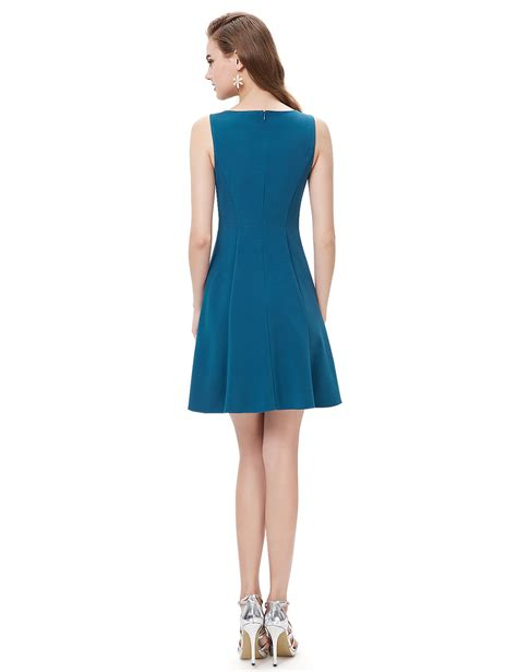 Gaun Dress Blue Flower M Import Original pretty blue fashion sheer neckline casual flower mini dresses 05263 ebay