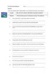 english worksheets punctuating dialogue