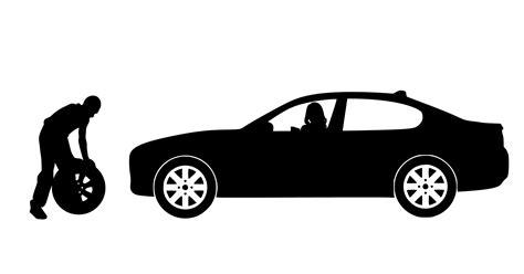 images car repair silhouette replacement tire