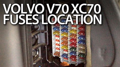 volvo  xc fuses  relays location youtube