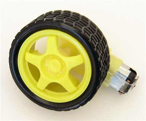 Motor Dc Gearbox 3v 6v Kuning Roda Hitam Untuk Smart Car Mobil 1 motor gearbox kuning 200rpm 6v roda jual arduino jual arduino jogja toko arduino