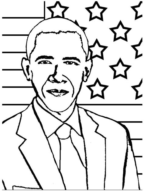 coloring pages obama family barack obama coloring page coloring home