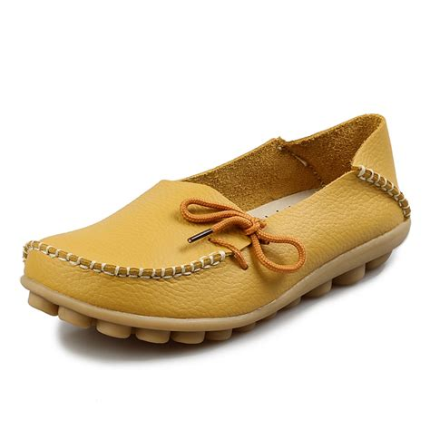 10colors genuine leather shoes moccasins