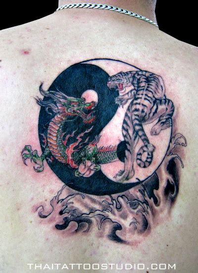 tattoo dragon tiger yin yang dragon and tiger yin yang tattoo