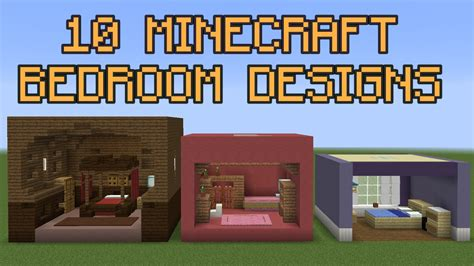 minecraft bedroom design 10 minecraft bedroom designs youtube