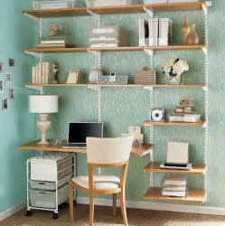 Shelving Desk Space Saving Combine A Shelving Unit With A Desk