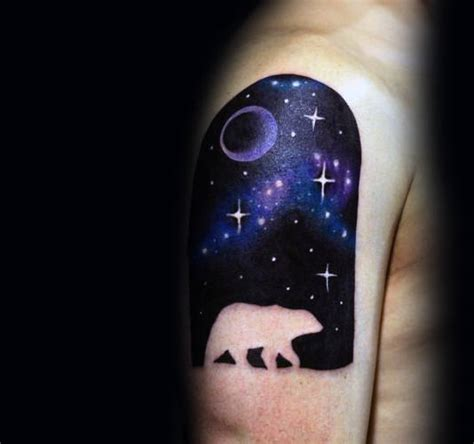 night sky tattoo 60 polar designs for arctic ink ideas
