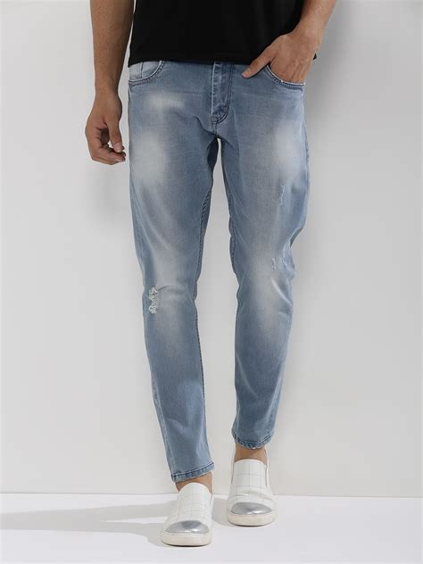 light washed mens buy light washed carrot fit with rips for