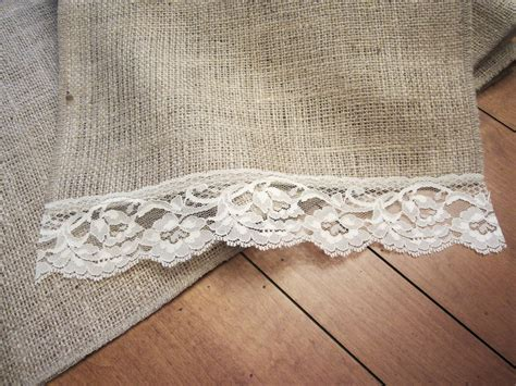 Burlap Table Runner With Lace by Burlap Vintage Lace Table Runner 60