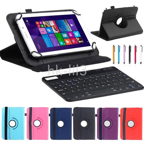 Leather Keyboard 10 bluetooth keyboard rotate leather stand cover for