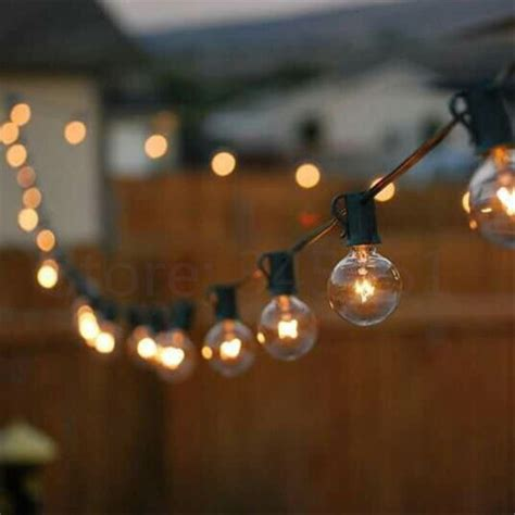 28ft outdoor string christmas lights other outdoor lighting patio lights g40 string light warm white 25 clear vintage bulbs 25ft