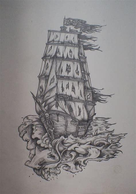 iamaseaman pirate ship tattoo