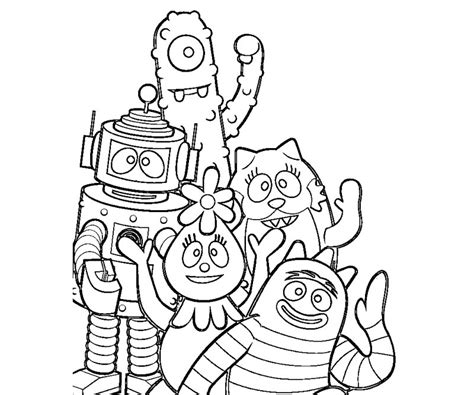 yo gabba gabba coloring pages printable coloring for