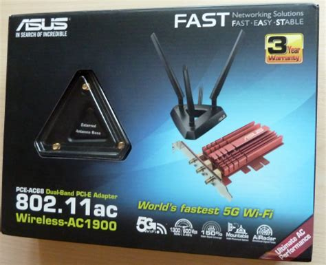 reviewing  asus pce ac pci express wireless adapter