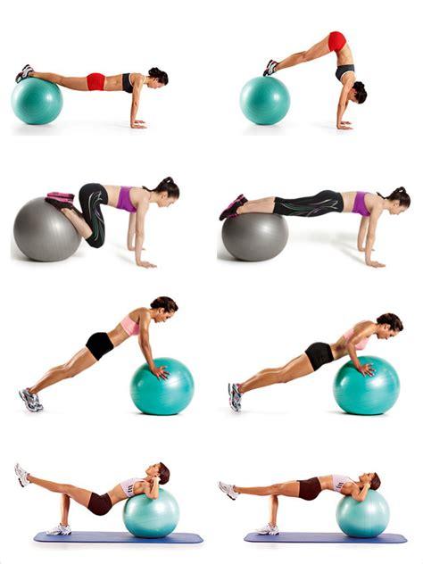 swiss ball exercises   girl pinterest