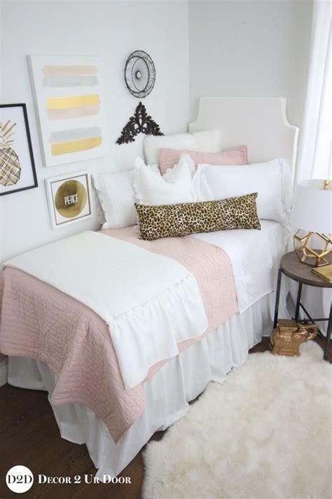 blush pink decor blush pink cheetah print designer dorm bedding set
