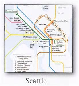 Seattle Streetcar Map by Seattle Transport Map Usa Bus Light Rail Historic