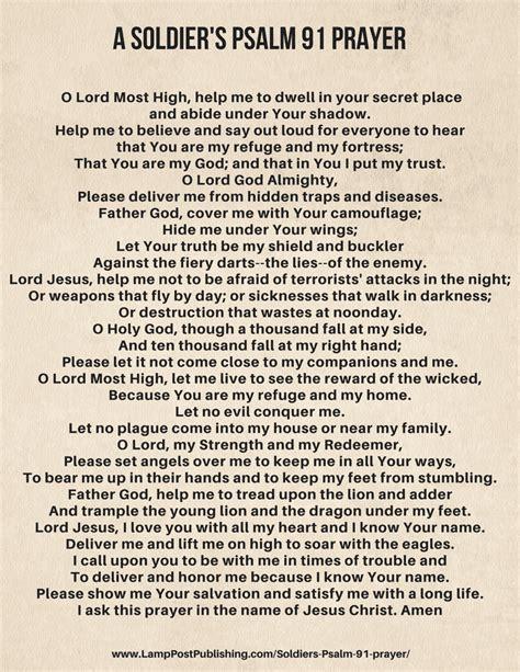 printable version psalm 91 psalm 91 prayer related keywords psalm 91 prayer long