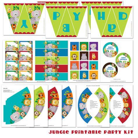 free printable jungle birthday banner 6 best images of diy birthday banner printable happy