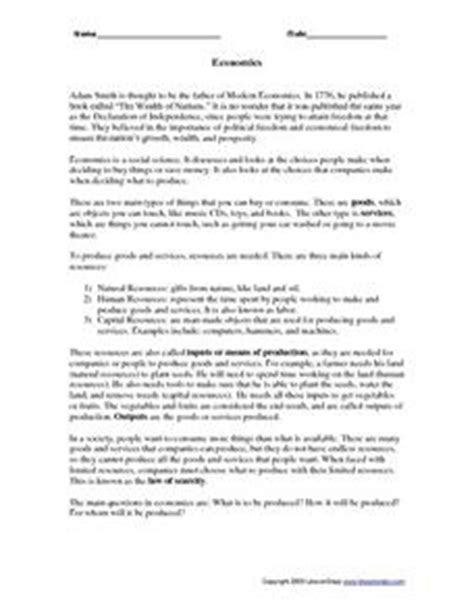worksheet economics worksheets caytailoc free printables