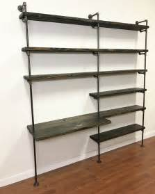Small Desk Shelving Unit Industrial Desk Pipe Shelving Unit With Desk Home Office