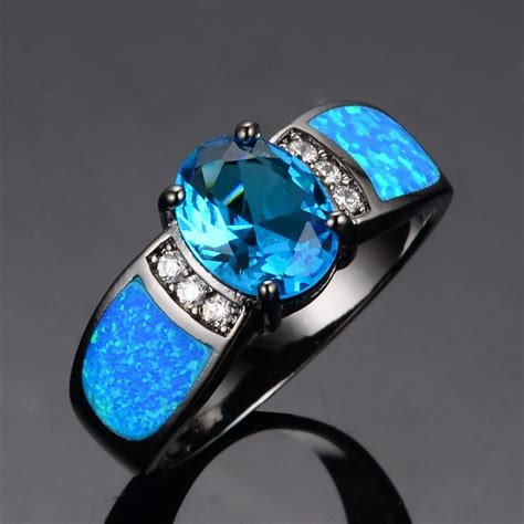 blue opal blue opal engagement ring blue opal engagement ring