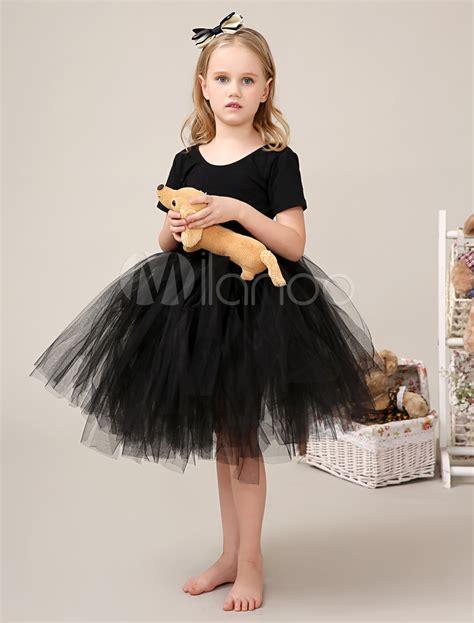 www vergudos negros y ninas vestido para las ni 241 as de flores de tul negro con escote