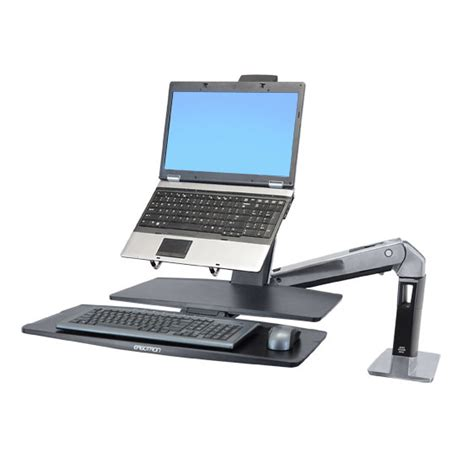 Ergotron 24 317 026 Workfit A Lcd Monitor Arm Standing Sit Stand Desk Adapter