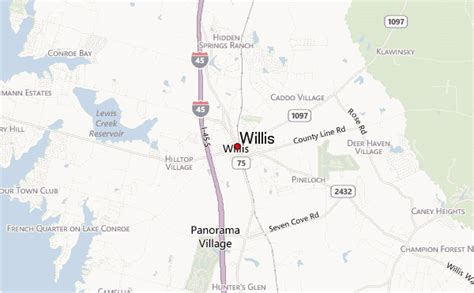 map of willis texas willis location guide