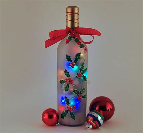 decorate wine bottle for christmas wine bottle l decor and green