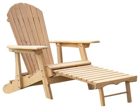 reclining adirondack chairs reclining adirondack chair with pull out ottoman natural