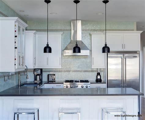 recycled glass backsplashes for kitchens recycled glass mosaic tiles contemporary kitchen lugbill designs