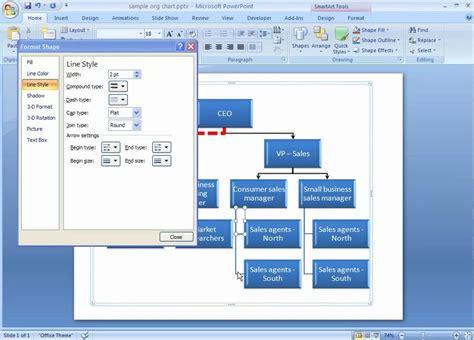word smartart flowchart office 2007 demo format lines in your smartart graphic