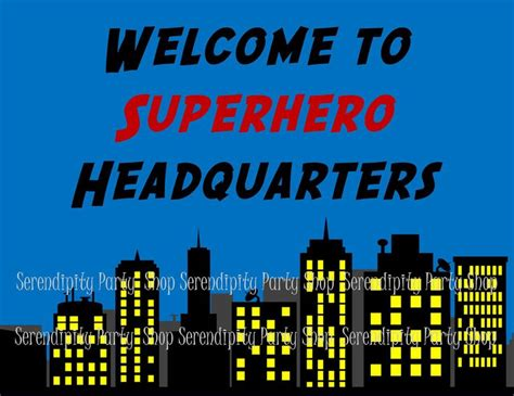 printable superhero quotes new superhero printable door sign by serendipity party