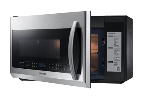 samsung me21f707over the range microwave 2 1 cubic appliances