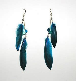 Anting Black Ribbon Earing world style feather earrings fashion
