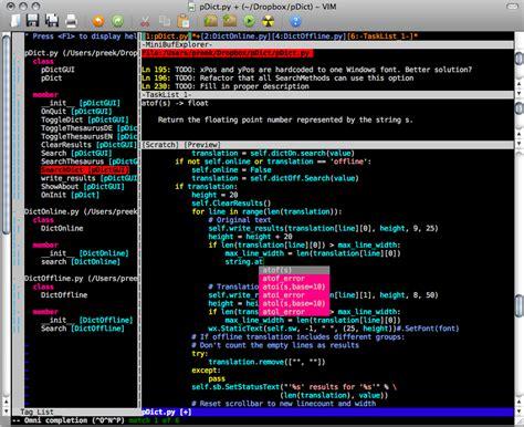 best python editor vim as python ide alain m lafon