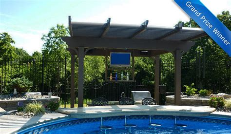 backyard tv pool side outdoor tv photo takes top sunbritetv outdoor living prize