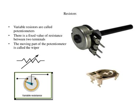 what is the use of a variable resistor lecture 1 resistors