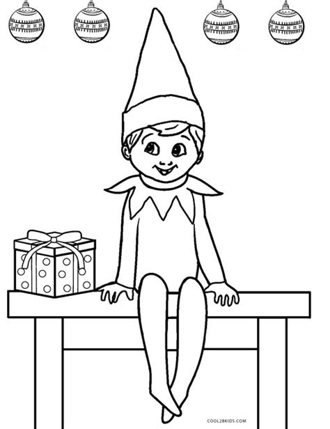 coloring page of elf on the shelf free printable elf coloring pages for kids cool2bkids