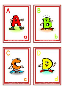 abcd cards template alphabet flashcards uppercase letter aussie