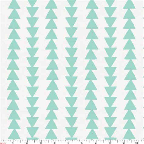 Mint Arrow Stripe Fabric by the Yard   Green Fabric